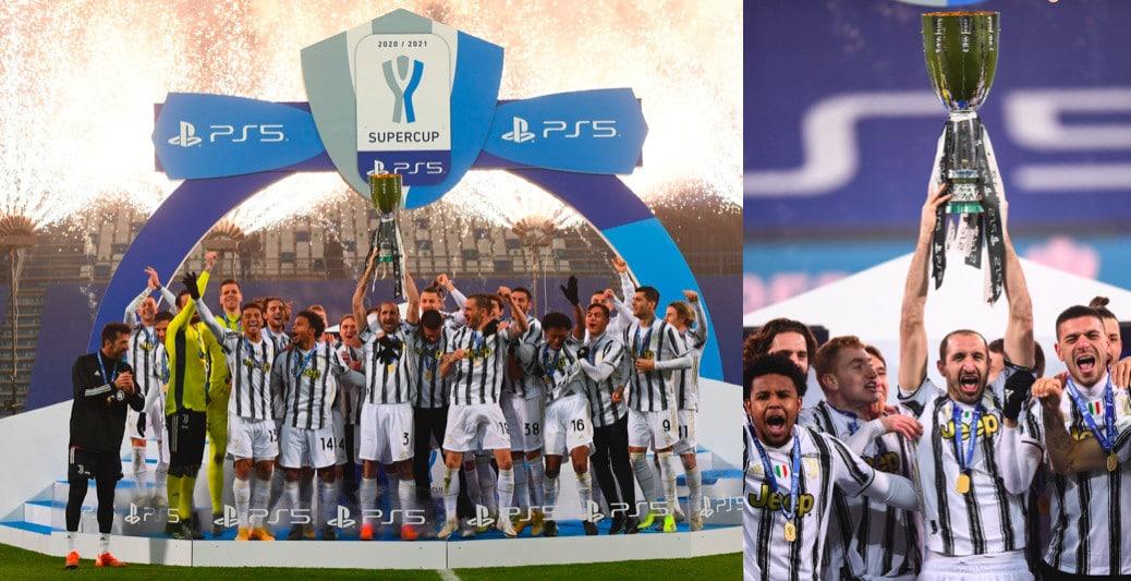 Gioia Juve, Chiellini alza la Supercoppa italiana