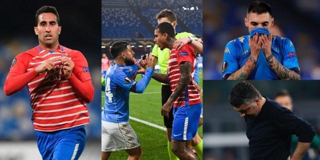 Napoli nervoso e fuori dall'Europa League: passa il Granada