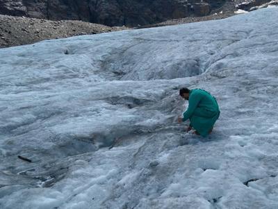 Microplastica anche sul ghiacciaio