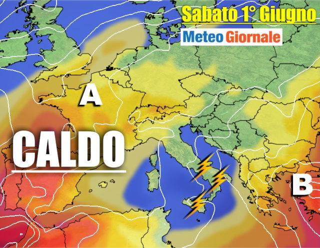 immagine 1 articolo meteo 7 giorni maltempo poi caldo estate