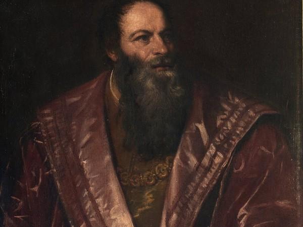 Tiziano Vecellio, Ritratto di Pietro Aretino, olio su tela, 1545. Galleria Palatina, Gallerie degli Uffizi, Firenze