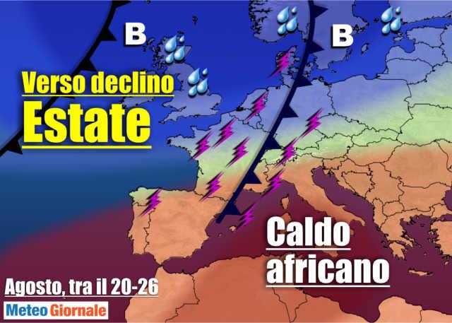 immagine 1 articolo meteo con nuovo caldo africano poi rottura destate