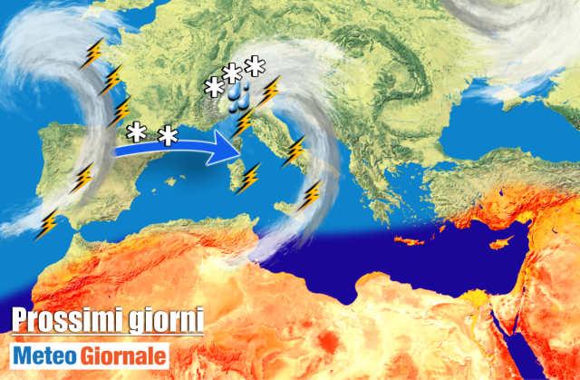 immagine 1 articolo meteo 7 giorni avvio settimana con maltempo