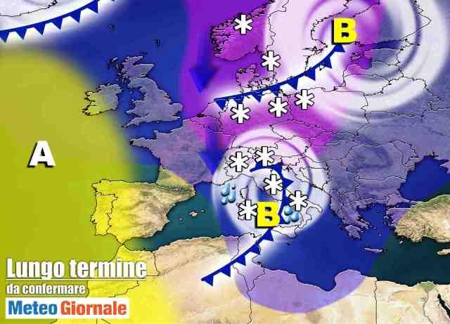 immagine 1 articolo meteo italia sino al 6 febbraio verso irruzione artica
