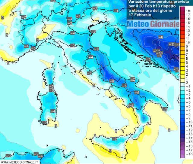 immagine 2 articolo freddo ecco dove caleranno in picchiata le temperature