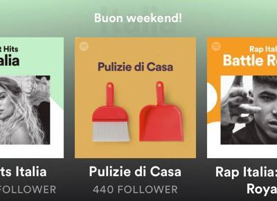 Su Spotify suona la quarantena, tra le playlist 'pulizie di casa'