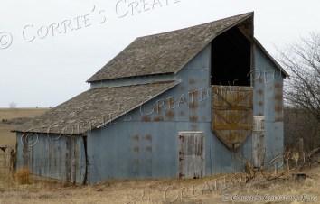 Tin barn; located in southeastern Nebraska