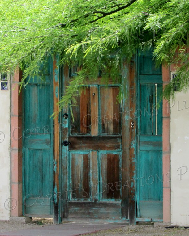 I love this photo–the door looks like it's been painted in watercolor.