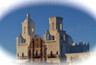 Beautiful San Xavier Mission near Tucson, Arizona