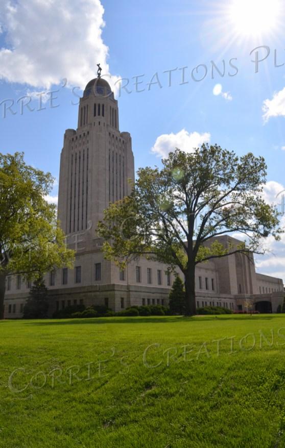 The State Capitol building soars high in Lincoln, Nebraska.