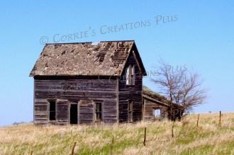 Abandoned farmhouse on the prairies of southeastern Nebraska