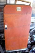 Rusted-out refrigerator; photo taken in southeastern Nebraska