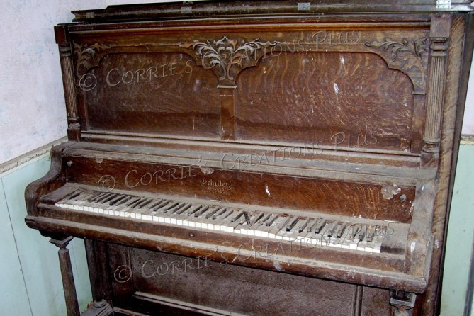 The color version of an old piano