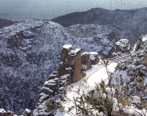 Snow in the Catalina Mountains near Tucson