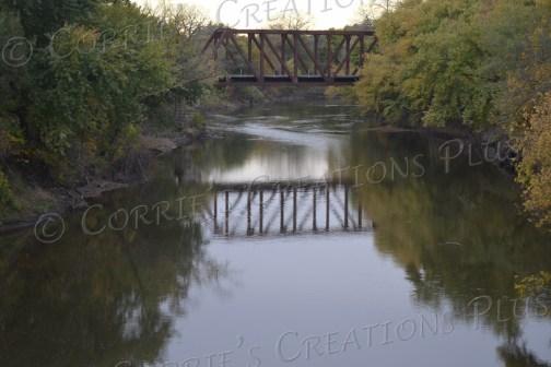 Bridge reflection over the Big Blue River in southeastern Nebraska