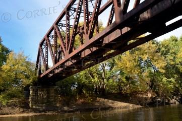 This railroad bridge spans the Big Blue River in southeastern Nebraska.