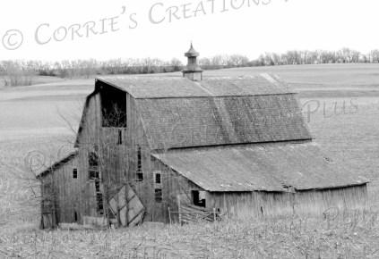 An old barn graces the farming landscape in southeastern Nebraska.