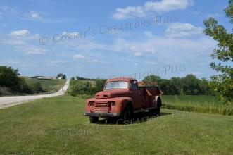 An old fire truck in southeastern Nebraska