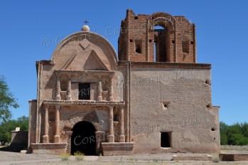 The mission in Tumacacori, Arizona