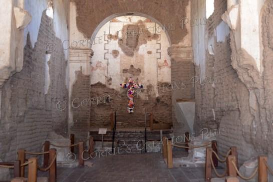 Inside the mission in Tumacacori, Arizona