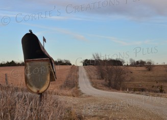 A rusted-out mailbox on a country road in southeastern Nebraska