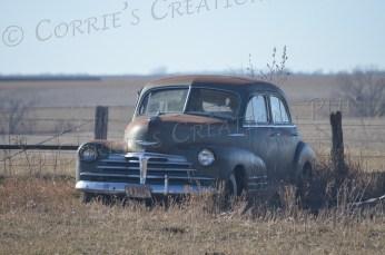 Old car gracing Nebraska's landscape