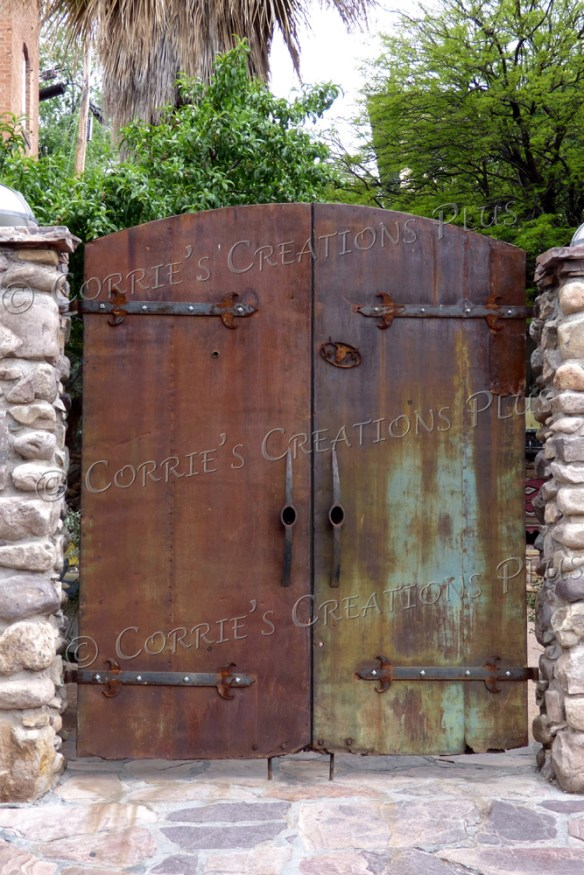 A rusty gate in Bisbee, Arizona