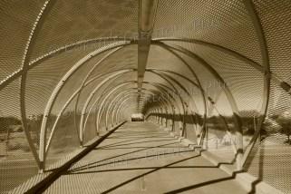 A sepia version of the Rattlesnake Bridge in Tucson, Arizona