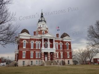The Johnson County Courthouse in Tecumseh, Nebraska