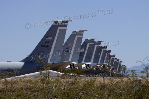 "Another good perspective photo. The airplane ""boneyard"" near Tucson, Arizona"