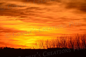 Sunset on Nebraska's prairies