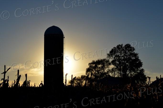 Silo sunset in southeastern Nebraska