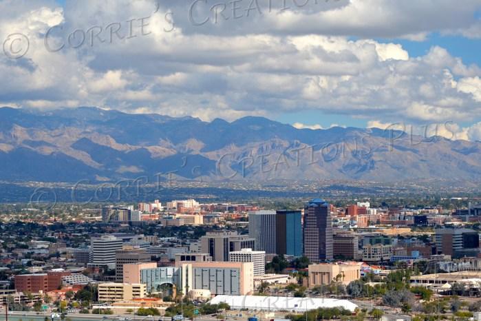 Tucson's skyline as seen from Sentinel Peak