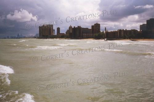 Lake Michigan and the Chicago shoreline