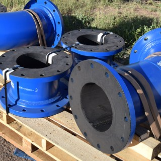 Rubber-lined pipes from Corrosion Engineering.