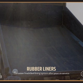 Corrosion Truck Bed lining system after years in service