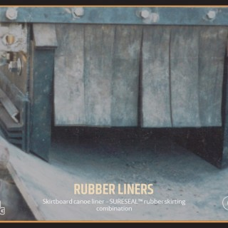 Skirtboard canoe liner – SURESEAL™ rubber skirting combination