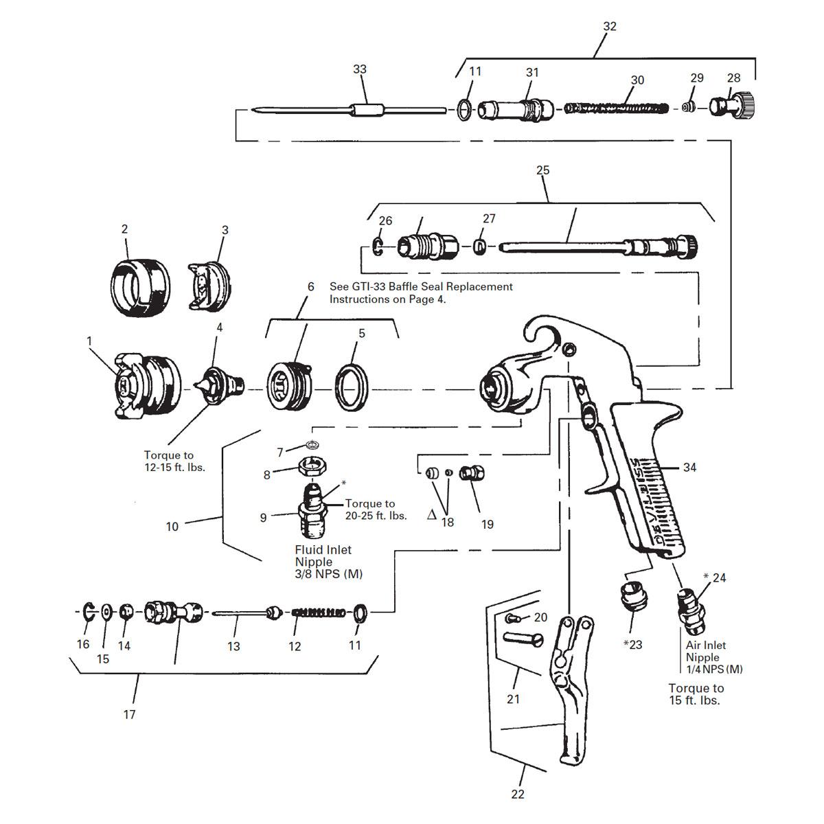 Jga Spray Gun 30ex 1 8