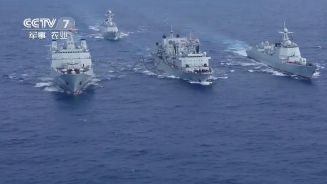 Maldives: China sends a naval task force to muscle India out.