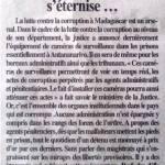 Des magistrats malgaches s'engarissent sur les mirages des libertés provisoires. Desdéfis restent à relever dans la lutte contre la corruption au sein de la justice – Lagazette-DGI du 25 avril 2019