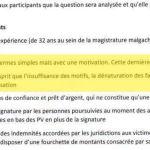 RANARISON Tsilavo les décisions de justice doivent être rédigées en de termes simples de trois phrases au moins