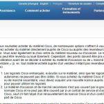 NEXTHOPE le matériel Cisco peut être revendu ou loué librement d'après le site cisco