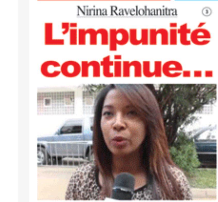 Qui ose protéger Nirina Ravelohanitra et mépriser les engagements du Chef de l'Etat et du Premier Ministre qui ont promis une tolérance zéro à l'égard de la corruption ? Lagazette DGI du 11 août 2019