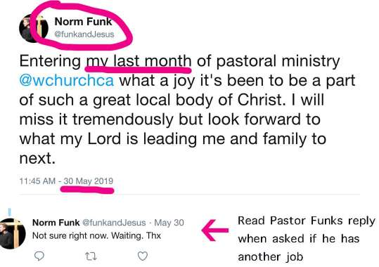 Ex Pastor of Westside Church
