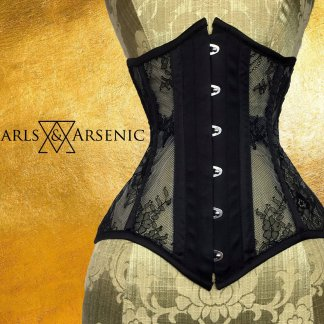 Pearls Arsenic Raven Tao black mesh lace underbust Ophelia