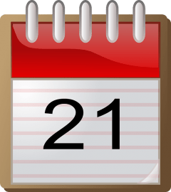 Calendar image for 21st of the month