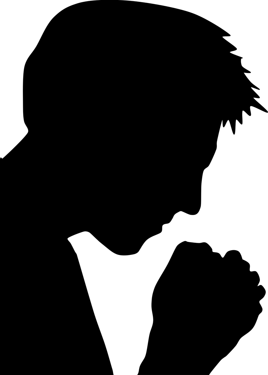 Silhouetted figure in prayer