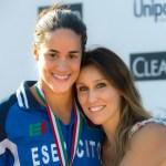 Erika Ferraioli con Cristina Chiuso, di cui ha eguagliato il primato italiano dei 50 stile libero in vasca corta