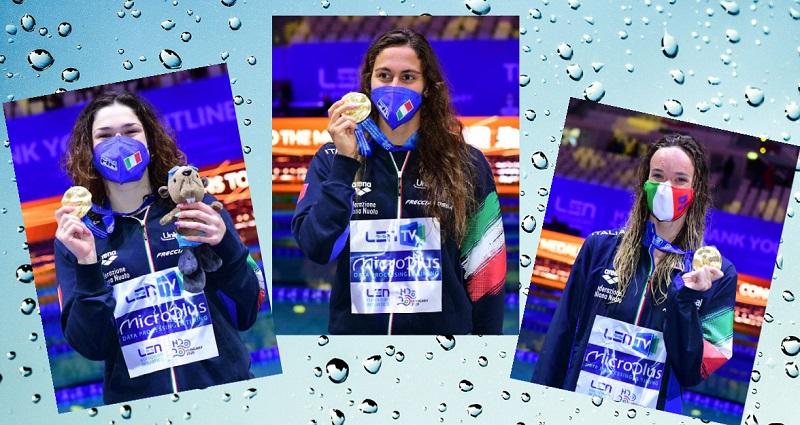 Europei 2021 | Panziera, Pilato, Quadarella tris d'oro. Super Razzo e staffette miste sul podio