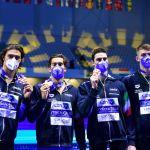 Europei 2021   Europei 2021   Bronzo 4×100 stile con record di Miressi